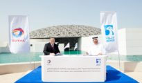 Signing of the Total ADNOC deal concerning two Abu Dhabi offshore concessions.