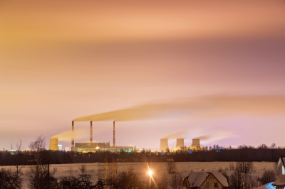 Representative image of a thermal power plant.
