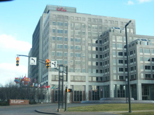 Global headquarters of Eli Lilly and Company aka Lilly in Indianapolis, Indiana