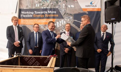 Ground-breaking ceremony for the new Hamina LNG terminal in Finland