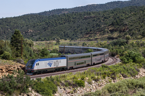 Rendering of new Amtrak Locomotives to be delivered by Siemens Mobility