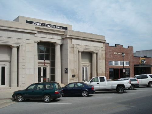 A branch of First Citizens Bank in Beaufort, South Carolina