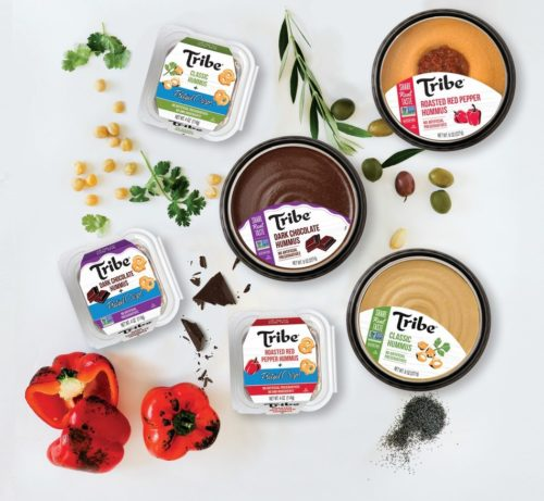 Hummus products of Tribe Mediterranean Foods