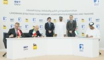 H.H. Sheikh Mohamed Witnesses Signing of Landmark Strategic Refining and Trading Partnership Agreements Between ADNOC, Eni and OMV.