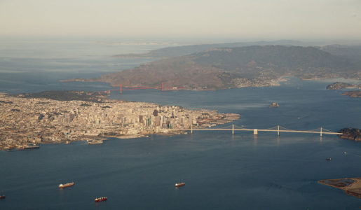 The Trans Bay Cable was laid under San Francisco Bay