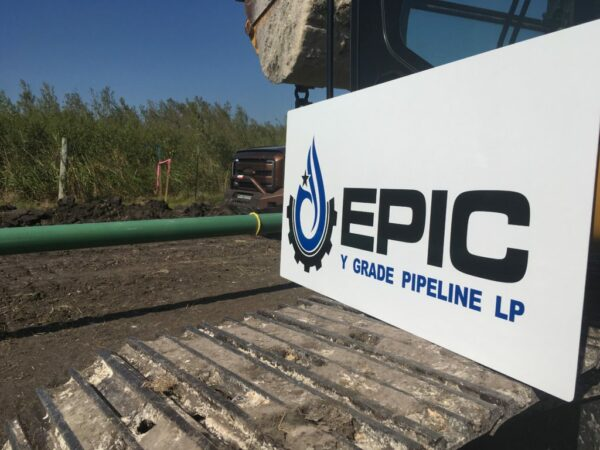 The Epic Crude Oil Pipeline has been laid parallel to the Epic Y-Grade Pipeline