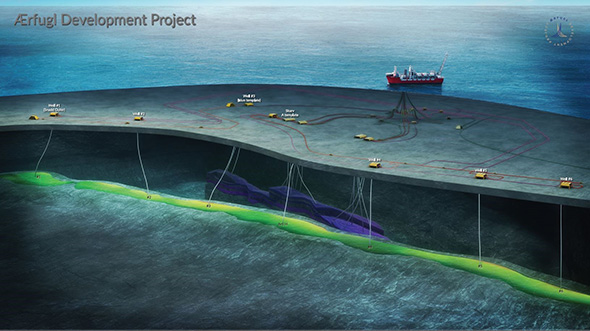Illustration of the Ærfugl project in North Sea.