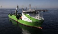 Neart na Gaoithe offshore wind farm Living Stone cable lay vessel