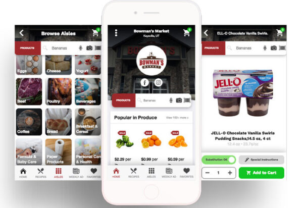 A store-branded mobile app built and powered by ShopHero for independent grocers.