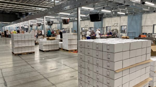 Thermo Fisher officially opens manufacturing site for COVID-19 sample collection products in Lenexa, Kansas.