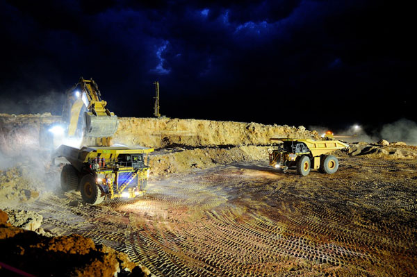 Boston Shaker gold mine at the Tropicana gold project