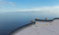 Illustration of the Snorre expansion project in the North Sea.