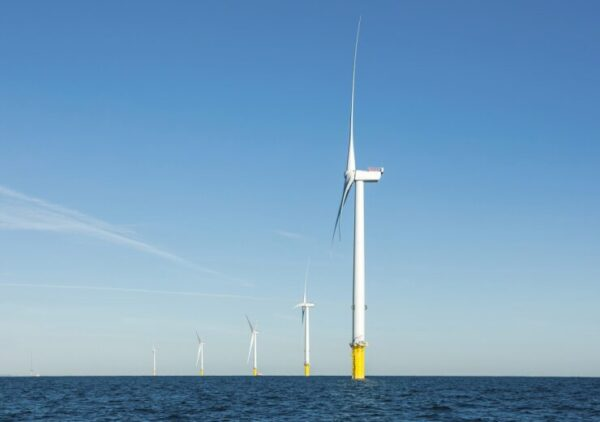 Phase 1 of the Blyth Offshore Wind Farm in the UK.