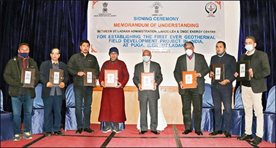 ONGC signs MoU to develop geothermal fields in Ladakh